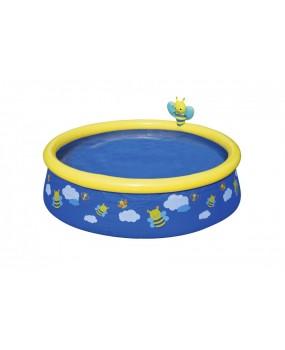 Detský nafukovací bazén so sprchou - včielka 152 x 38 cm
